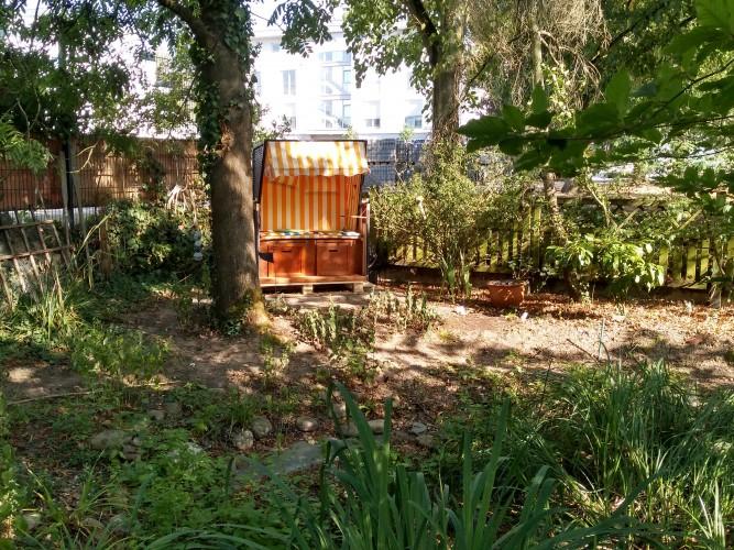 Zeltplatz in Garten